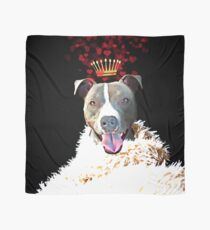 Royal Love Pup, Pit Bull Terrier, crown of hearts Scarf