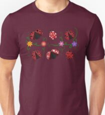 Ladybirds pattern Unisex T-Shirt