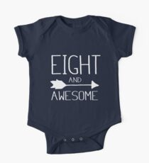 Eight And Awesome 8th Birthday Gift Kids Clothes