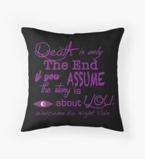 Death is Not the End Throw Pillow