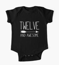 Twelve And Awesome 12th Birthday Gift Kids Clothes