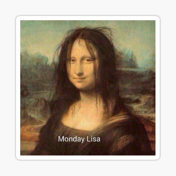 Monday Lisa Sticker