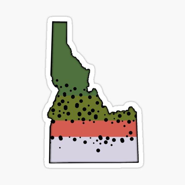 Idaho Rainbow Trout Love Sticker