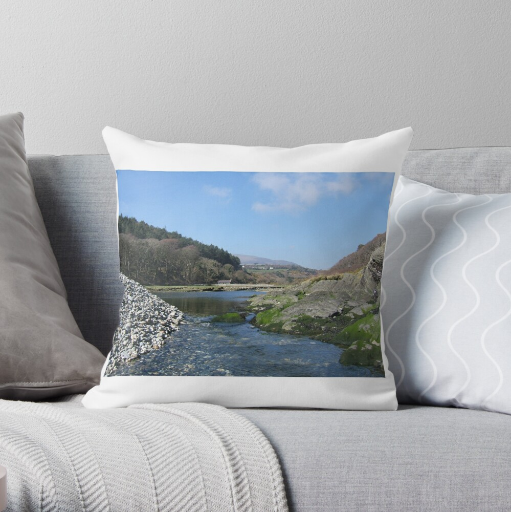 Port Cornaa Throw Pillow