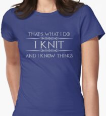 Knitting Gifts Womens Fitted T-Shirt