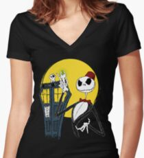 Bone Ties are cool Women's Fitted V-Neck T-Shirt