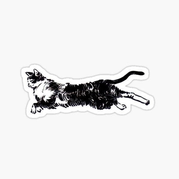 Flying cat Pegatina