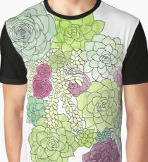 Watercolor and ink succulents Graphic T-Shirt
