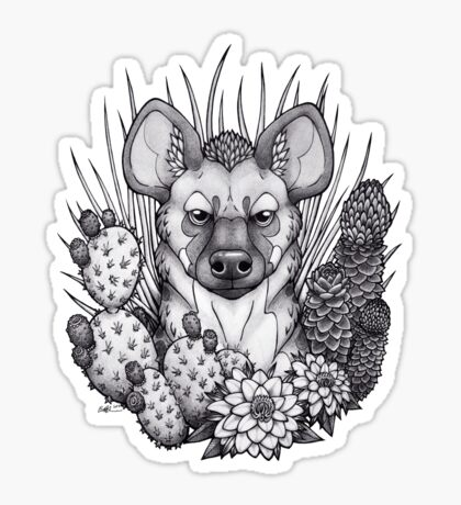 Hyena & Arid Plants Sticker