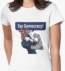 Yay Democracy Tees Women's Fitted T-Shirt