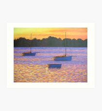 Couta boats at Sunset Art Print