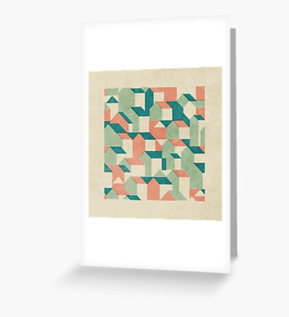 Little House Pattern (Set 02) Greeting Card