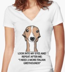 I Need 2 More Italian Greyhounds Women's Fitted V-Neck T-Shirt