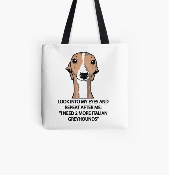I Need 2 More Italian Greyhounds All Over Print Tote Bag