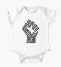 Civil Rights Black Power Fist Justice T-Shirt One Piece - Short Sleeve