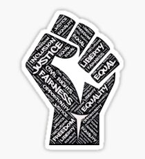 Civil Rights Black Power Fist Justice T-Shirt Sticker