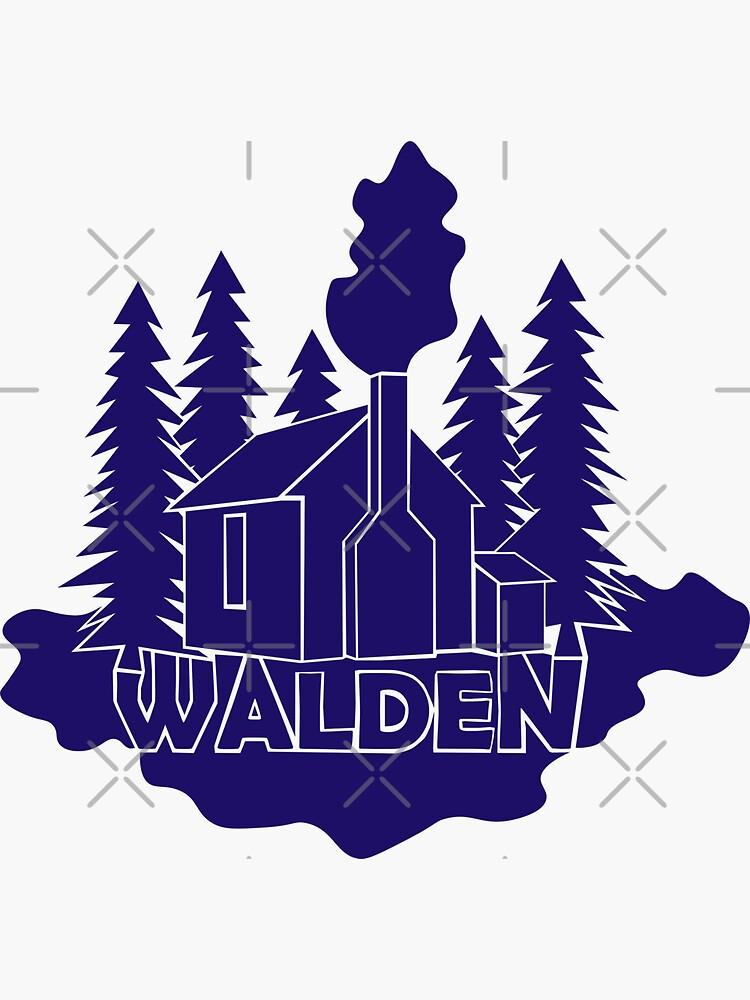 Walden - Henry David Thoreau (Blue version) by PrintablesP