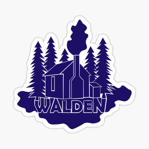 Walden - Henry David Thoreau (Blue version) Sticker