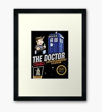 The Doctor 8 bit Cartridge Framed Print