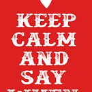 Keep Calm And Say When - Tombstone by movie-shirts