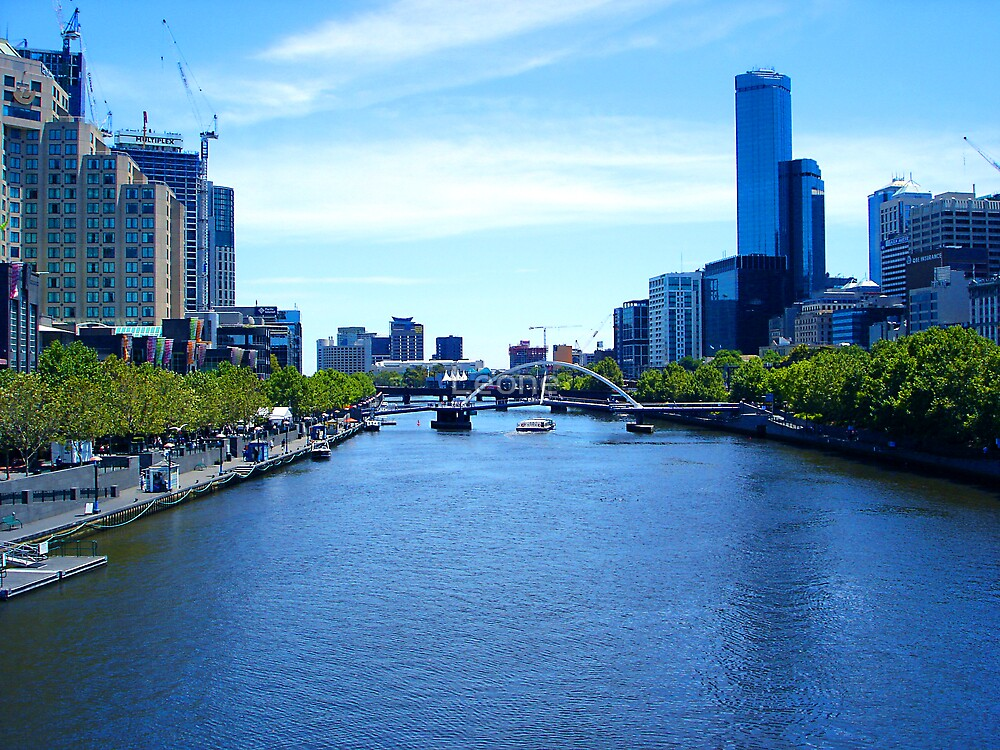 a 2004 view of Melbourne along the Yarra by fabreplus