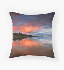 Lake Albert Sunrise Throw Pillow