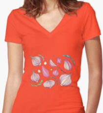 Onions Women's Fitted V-Neck T-Shirt