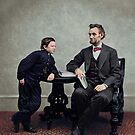 Lincoln and Tad (1865) by Marina Amaral