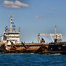 The David Allan Suction Dredge - Newcastle Harbour NSW by Phil Woodman