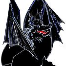 Black Lizard of flames.  by Rayjun