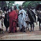 Angoni Warriors At King George Vs Coronation Celebrations, Zomba, 1911. by Marina Amaral