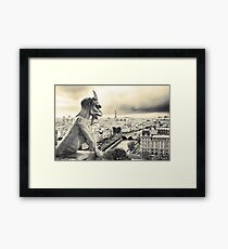 Looks Like Bad Weather: From the Notre Dame, Paris Framed Print