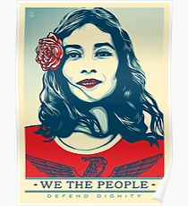 We the people- defend dignity Poster
