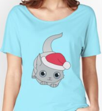 Christmas Cat Women's Relaxed Fit T-Shirt