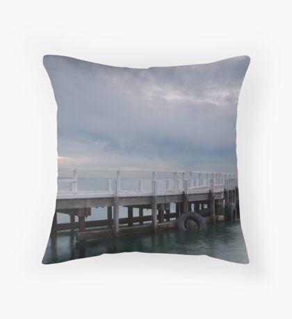 Pt Richards Jetty, Portarlington Throw Pillow