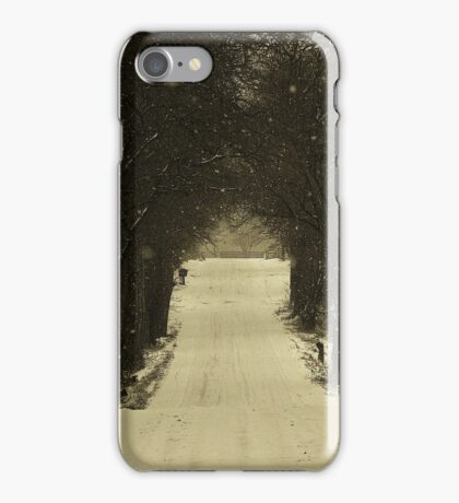 All is quiet on New Year's Day.. A world in white gets underway iPhone Case/Skin