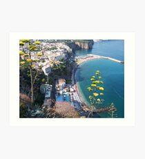 The Amalfi Coast Art Print