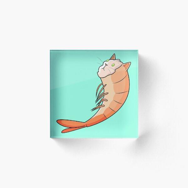 Shrimp Cat Acrylic Block