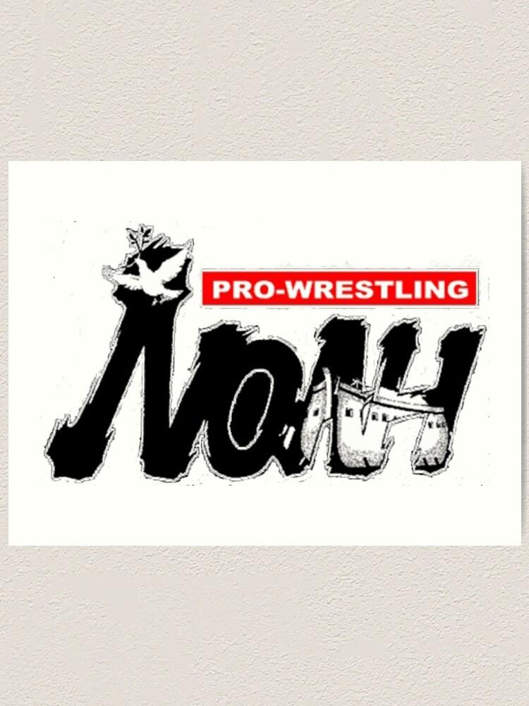 Pro Wrestling Noah Logo Art Print By Dawsintron Redbubble