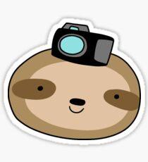 Camera Sloth Face Sticker