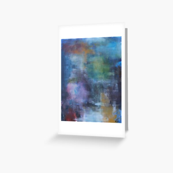 Abstract in Blue Greeting Card