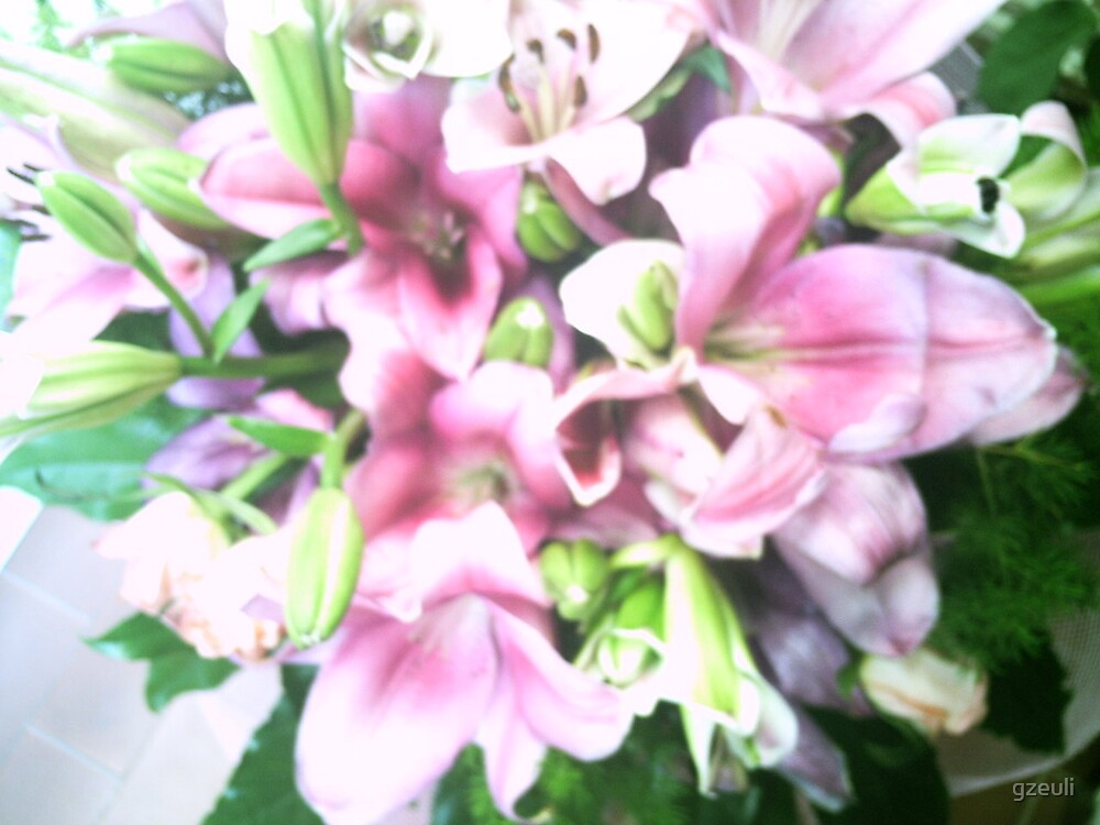 Pink Flowers by gzeuli