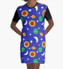 Gets Lost in Space Graphic T-Shirt Dress