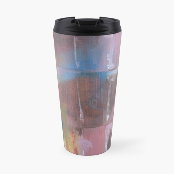 Abstract in Pink Travel Mug