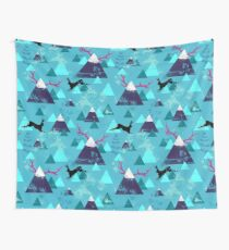 blu mountains Wall Tapestry