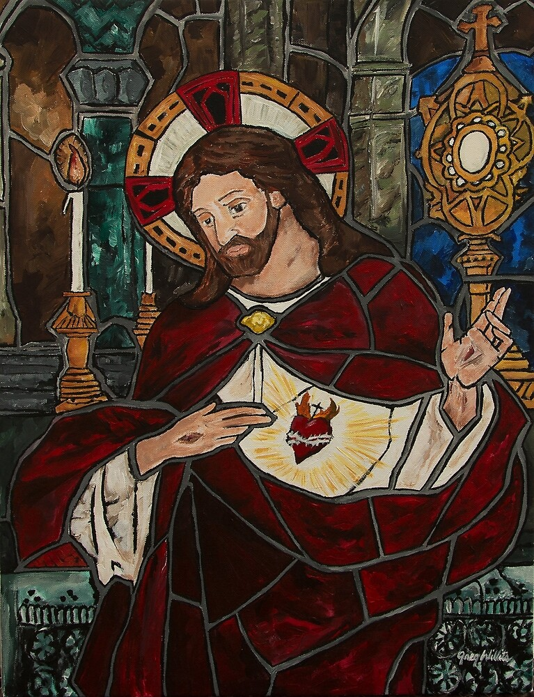 Sacred Heart of Jesus by gregwillits