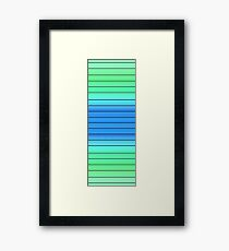 Stripey Framed Print
