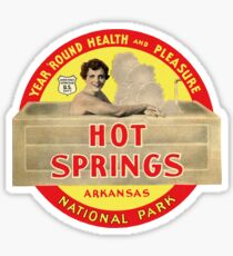Hot Springs National Park Arkansas Vintage Travel Decal Sticker