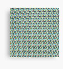Funky Surfboard Repeating Pattern Canvas Print