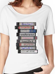 80's Wrestling VHS Tapes Women's Relaxed Fit T-Shirt